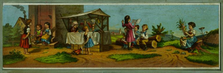 Magic Lantern slide of children.