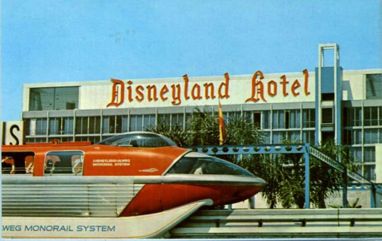 Disneyland. Pressed penny on verso of commemorative postcard, limited to 500.