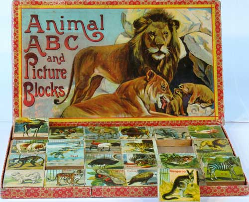 Animal ABC and Picture Blocks. In original box. Kangaroo, ABC.