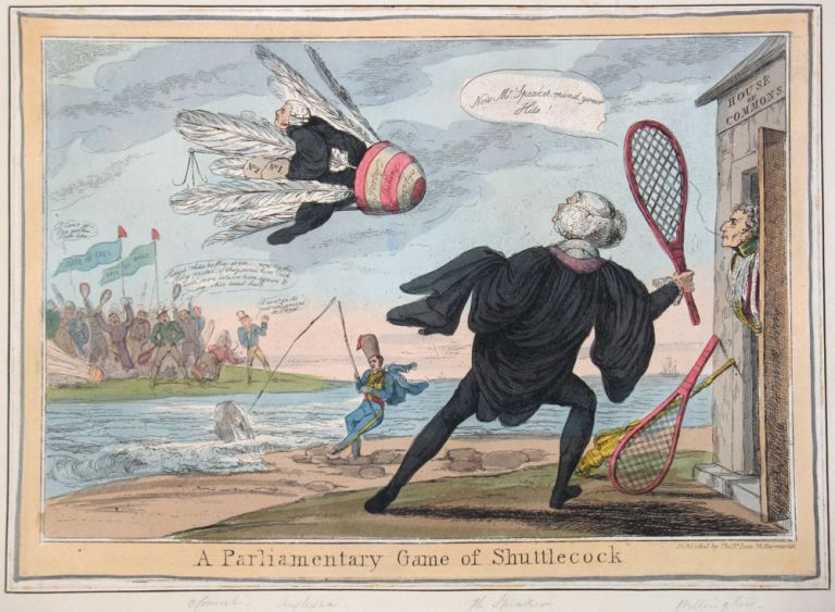 A Parliamentary Game of Shuttlecock. Ireland, Thomas McLean.