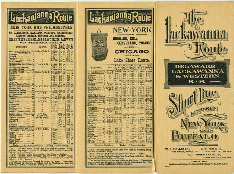 Delaware, Lackawanna & Western Railroad time table. October, 1895.