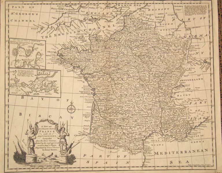 A New and Accurate Map of France with Its Acquisitions Composed of the Latest Surveys. Emanuel Bowen.