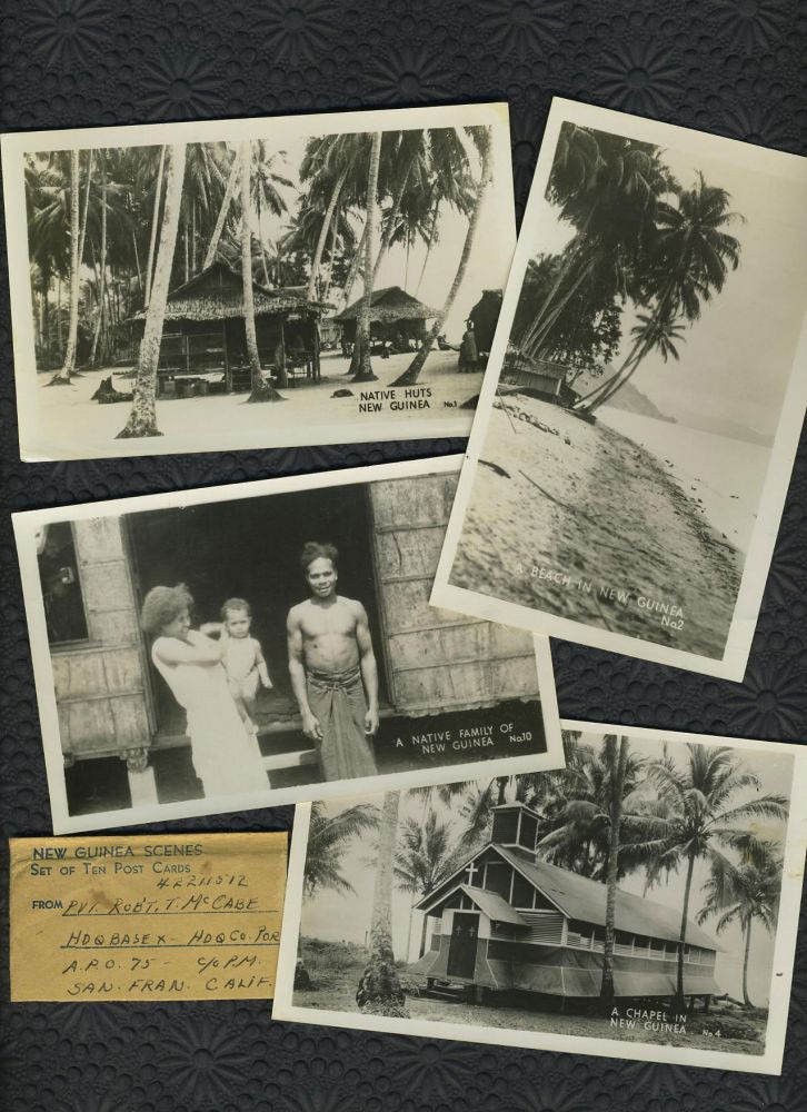 Set of 10 WWII New Guinea Real picture postcards.