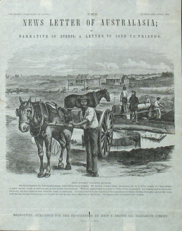 The News Letter of Australasia; or Narrative of Events: A Letter to Send to Friends. April 1858. Australian Letter Sheet.