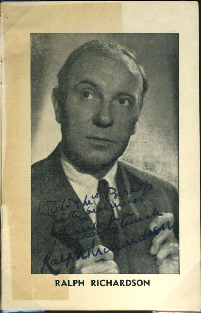 Ralph Richardson, Meriel Forbes, Sybil Thorndike, Lewis Casson, Signed programme 'Separate Tables' at the Capitol Theatre, Perth. Sir Ralph Richardson.