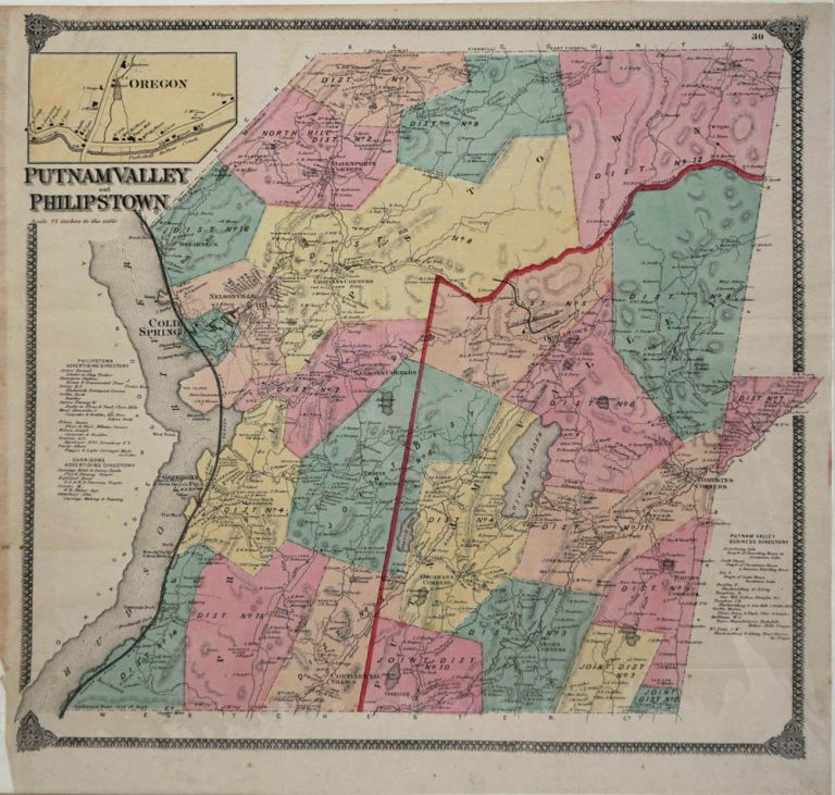 Putnam Valley and Philipstown. Map. Frederick Beers.