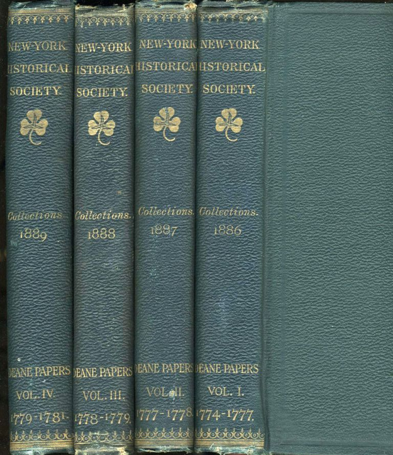 Collections of the New York Historical Society for the Year 1886, 1887, 1888, 1889 (4 Volumes).