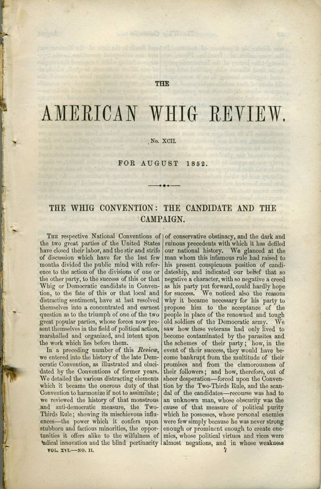 """""""Bell Flower and Pink"""", in The American Whig Review, August 1852. Americana."""