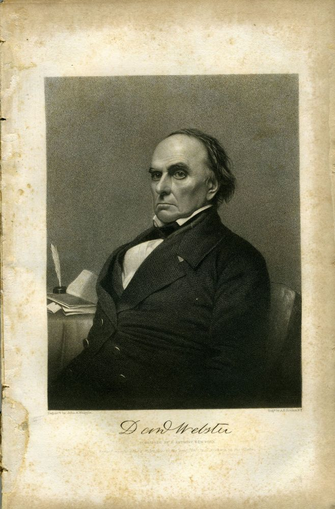 Portrait of Daniel Webster, in The American Whig Review, December 1852. Americana.