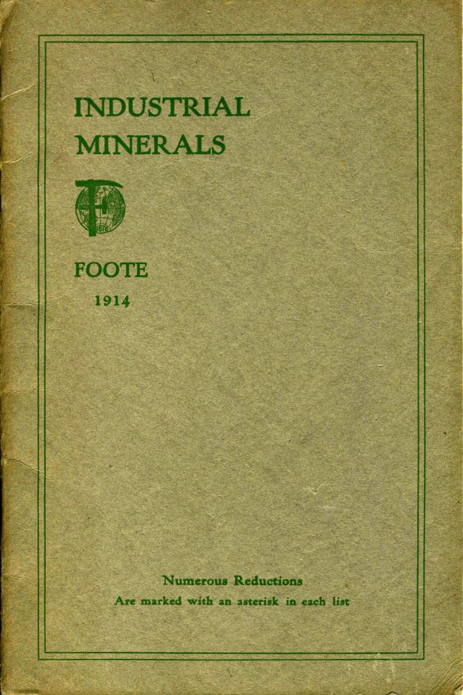 """Industrial Minerals"". Pamphlet with Western Australia meteorite. Mining."