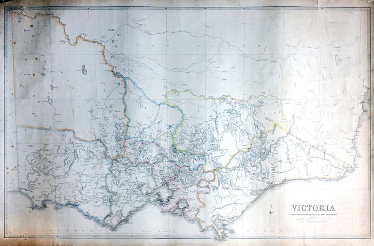 Victoria Mining Districts, Mining Divisions & the Gold Fields. Mining, Victoria.