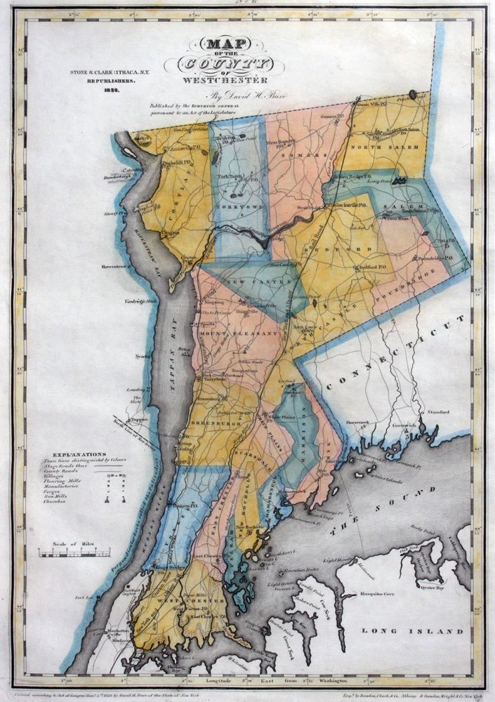 Map of the County of Westchester. David H. Burr.