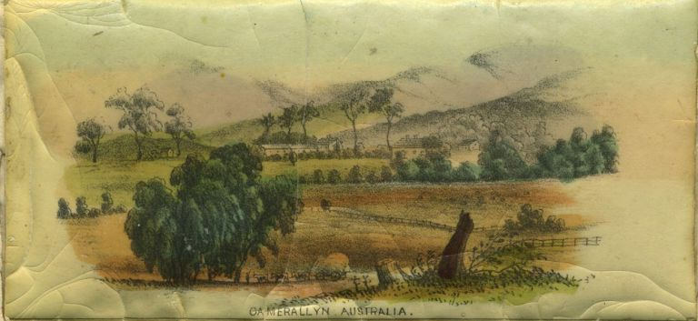 Camerallyn, Australia. Lithograph. T. T. Balcombe, artist.