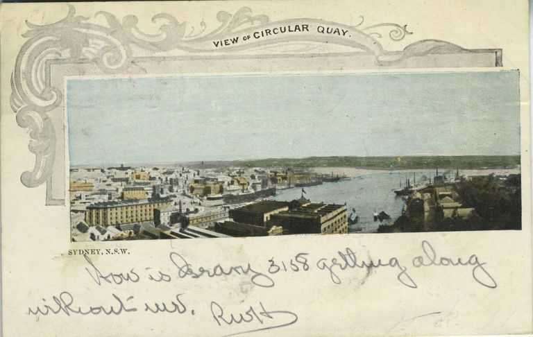 View of Circular Quay. Sydney, N.S.W. Private Post Card. Postcard, NSW Sydney.