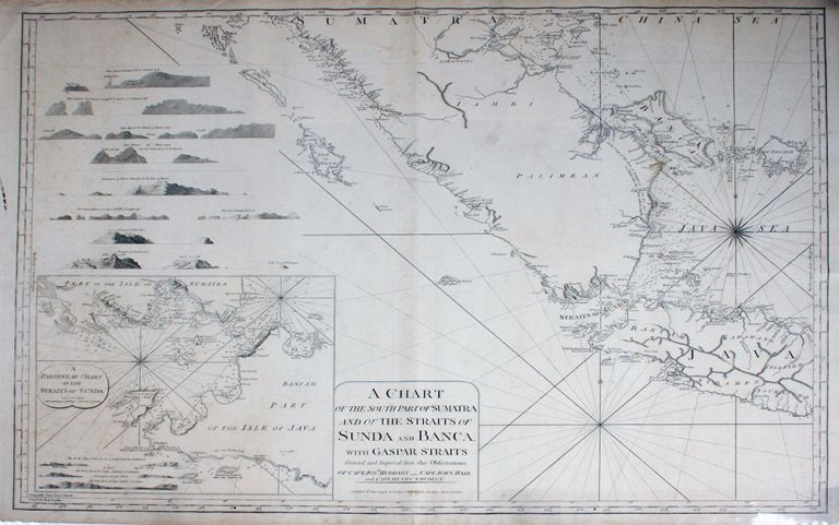 A Chart of the South Part of Sumatra and of the Straits of Sunda and Banca. With Gaspar Straits. Corrected and Improved from the Observations of Capt. Josh. Huddart, Capt. John Hall and Capt. Henry Smedley. Laurie, Whittle, Indonesia.