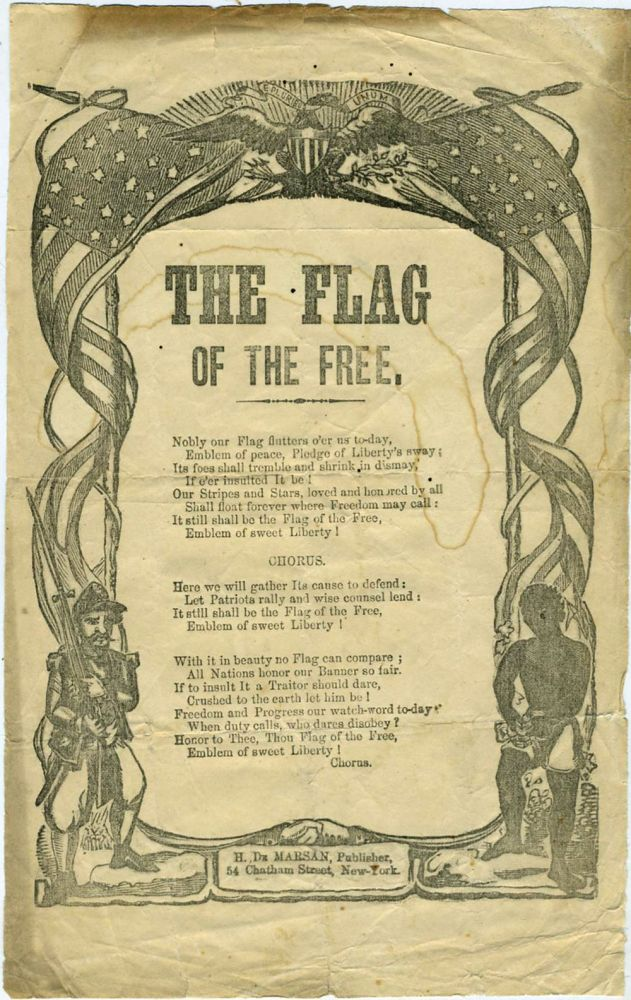 The Flag of the Free. Civil War, Harrison Millard.