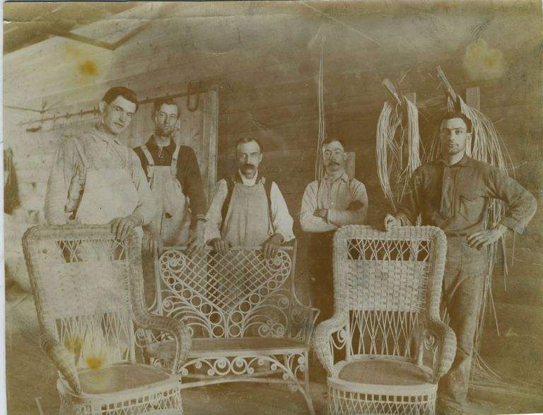 Photograph of a Wicker Shop.