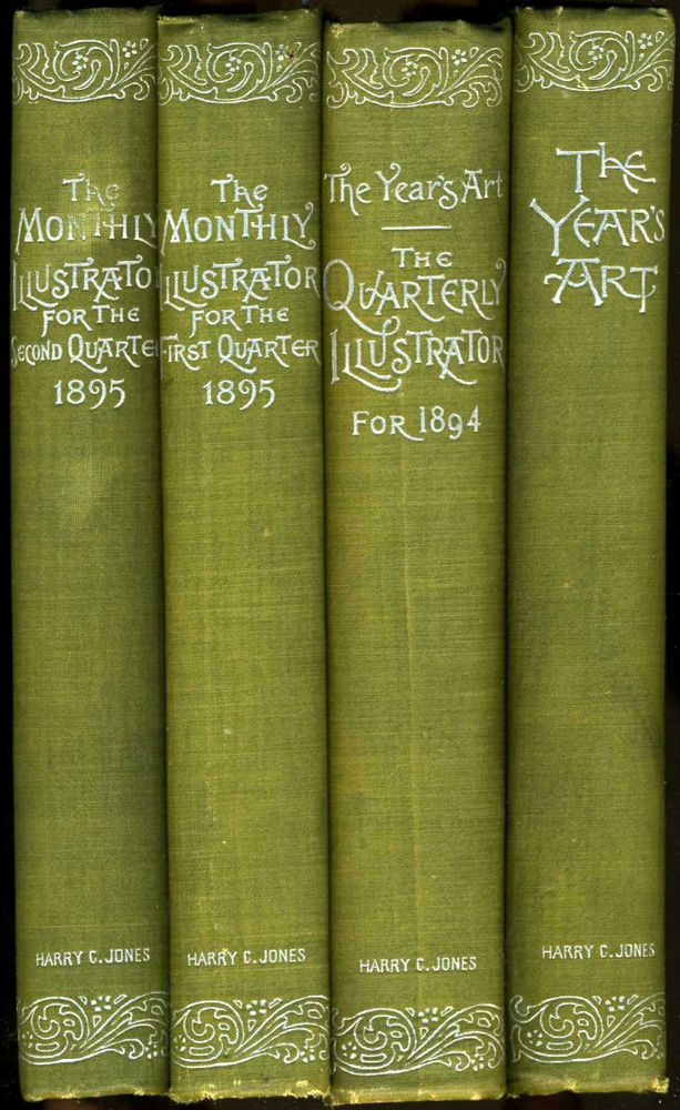 The Year's Art As Recorded In The Quarterly Illustrator ... Vols I - IV, 1893 - first & second quarter 1895. American Art, Illustration.