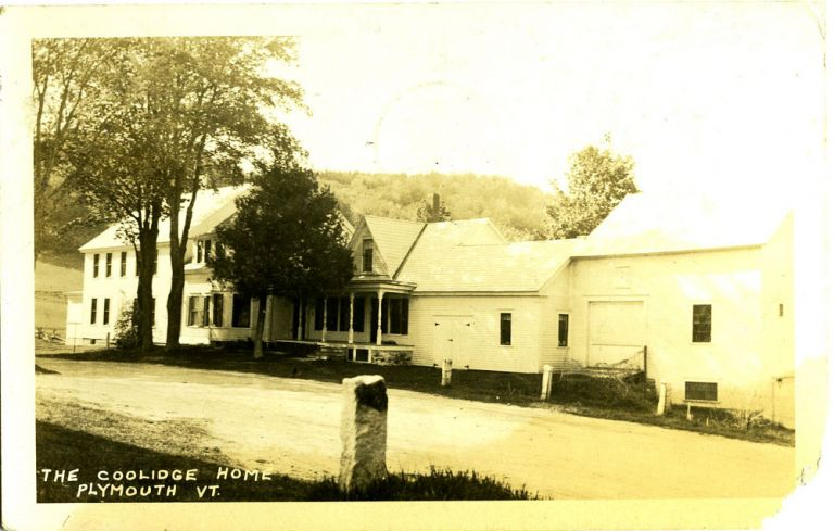 The Coolidge Home, Plymouth, VT Real-Photo Postcard.