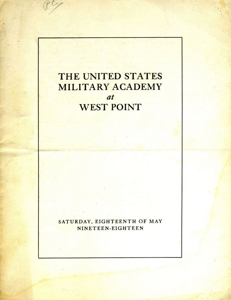 France's Gift to West Point - A Presentation Speech to the Cadets of West Point.