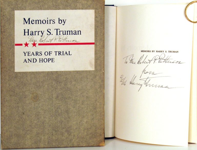 Years of Trial and Hope 1946 - 1952. Memoirs by Harry S. Truman. Volume Two. Harry S. Truman.