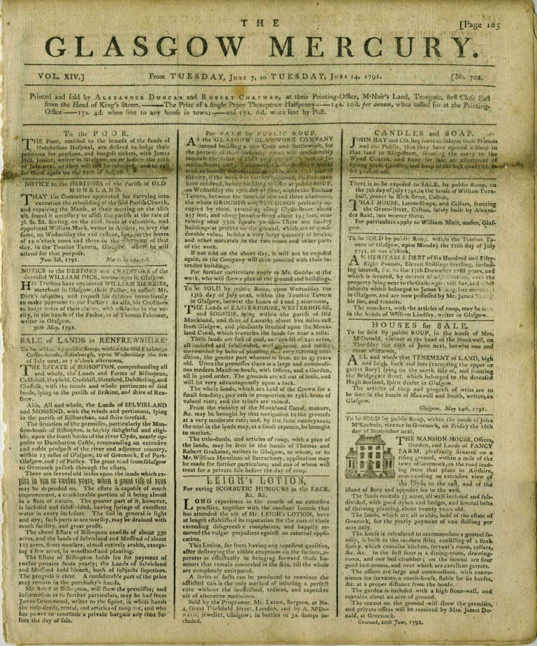 The Glasgow Mercury, 1791: British trade with Northwest Coast of America and China. Hawaii, North West Coast, China.