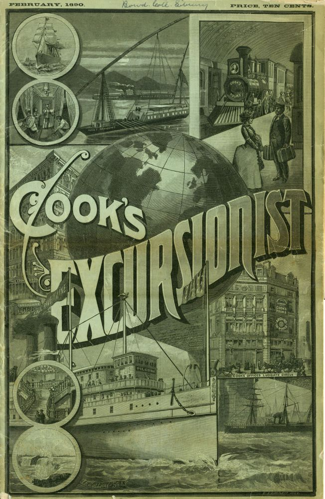 Cook's Excursionist and Tourist Advertiser. Advertising newspaper.