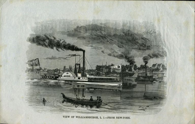 View of Williamsburgh, L. I. - From New-York, Proof. N. Y. Brooklyn.