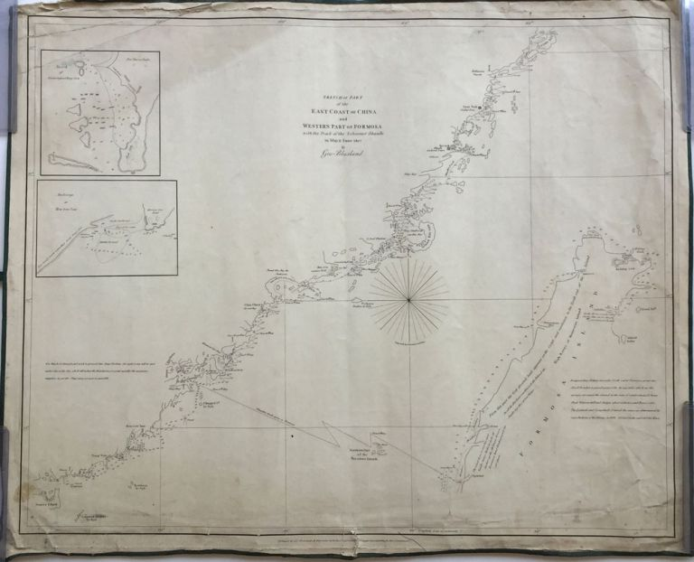 Sketch of Part of the East Coast of China and Western Part of Formosa with the Track of the Schooner Dhaulle in May & June 1827 by Geo. Blaxland. Geo Blaxland.