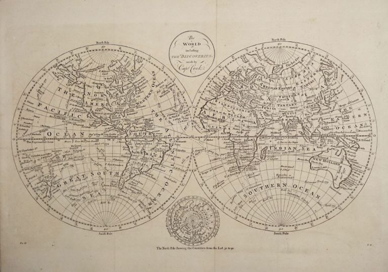 The World Including the Discoveries made by Capt. Cook. James Cook.
