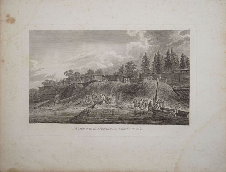 A View of the Habitations at Nootka Sound. John Webber, James Cook.