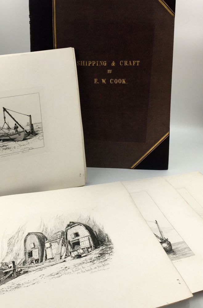 """""""Fifty Plates of Shipping and Craft Drawn and Etched by E.W. Cooke"""" [bound with] 12 additional proof plates of Brighton [with] 55 loose plates from the standard 1831 edition. E. W. Cooke, Edward William."""