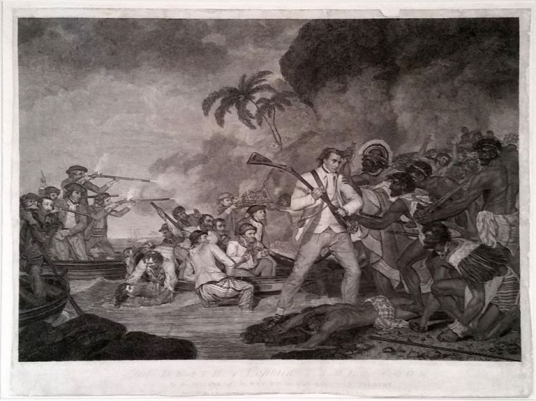 The Death of Captain James Cook by the Indians of O,why,ee, one of the Sandwich Islands. James Cook, George Carter.