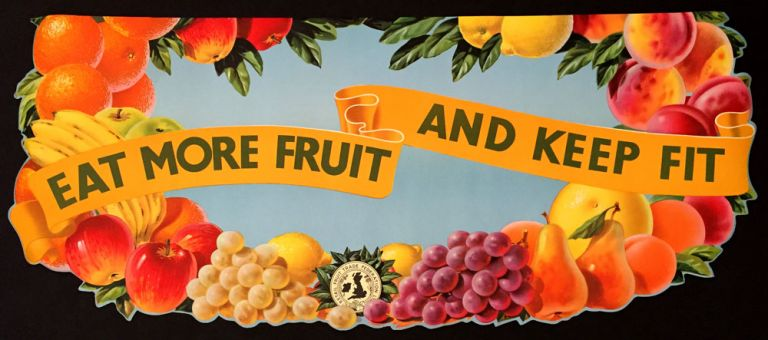 Shop Display advertising for Fruits and Vegetables. Retail Fruit Trade Federation Ltd.