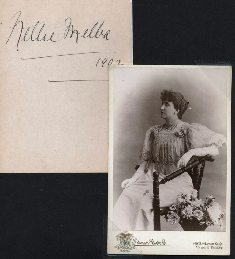 Nellie Melba Photograph [with] large autograph.