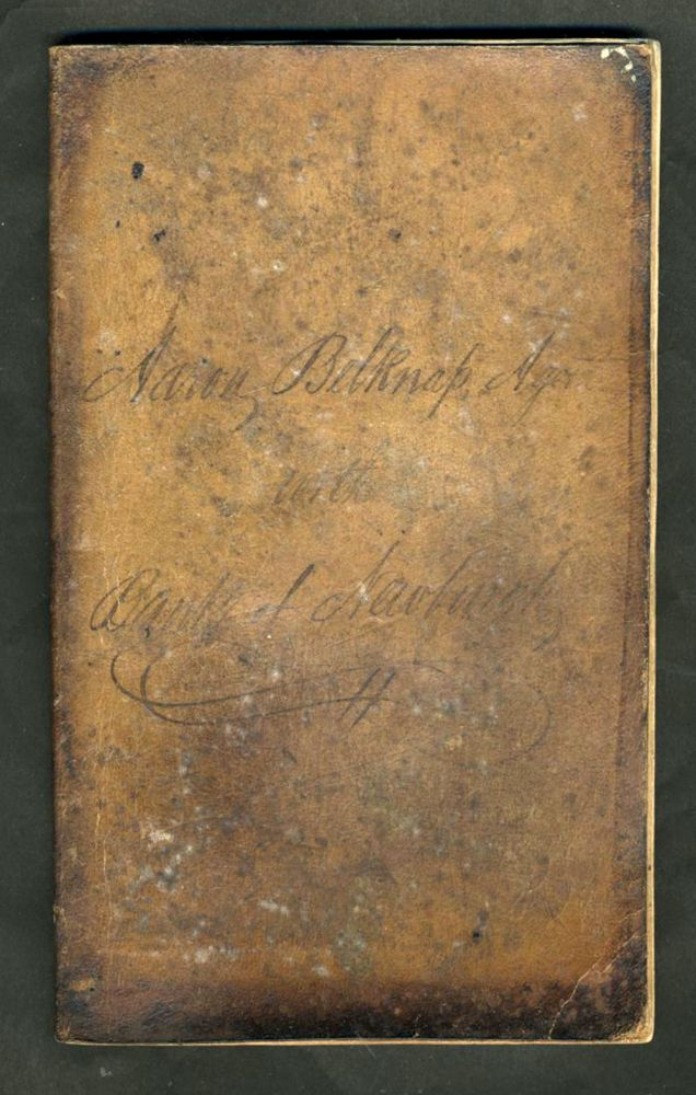 1836 - 1839 Ledger Book Bank of Newburgh NY, of Aaron Belknap [with] check dated 1839. Aaron Belknap.