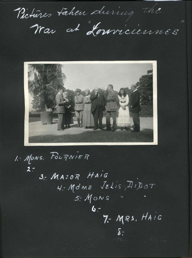 Photographic album of a pre-WWI tour in Europe and India, Kashmir & France, concluding during WWI at Louviciennes. Photographs, India, Europe, France, Major W. de W. Haig.