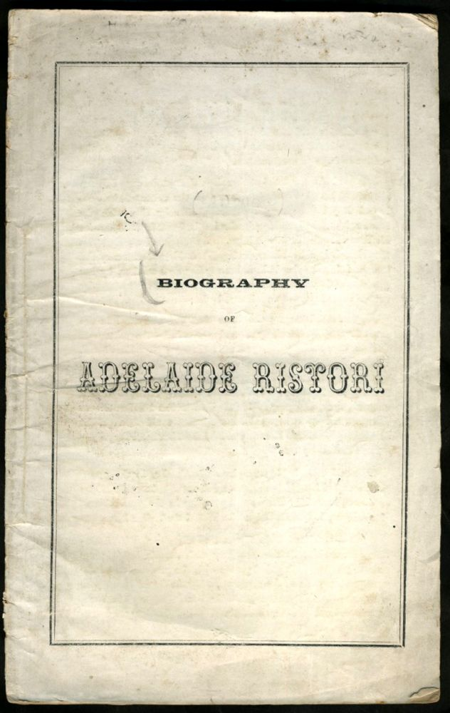 Biography of Adelaide Ristori. Australia, Theater.