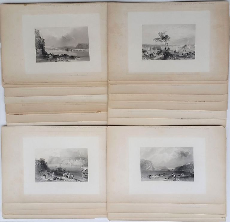 "A collection of Artist's Proof Plates of images from ""American Scenery"" W. H. Bartlett, William Henry."