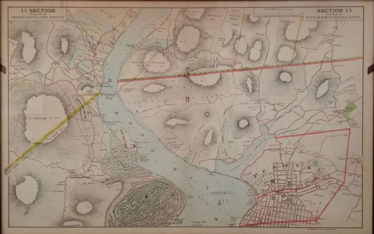 Portion of Putnam and Westchester County with Orange and Rockland across the River, Section 11. F. W. Beers.