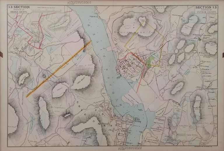 Portion of Putnam County (Village of Cold Spring, West Point & Garrison's Landing), Section 13. F. W. Beers.