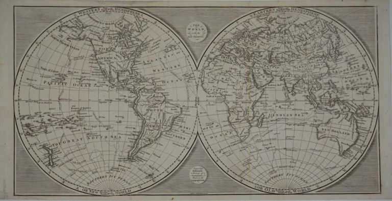 The World with the latest Discoveries. [Cook's voyage tracks]. James Cook, Anderson.