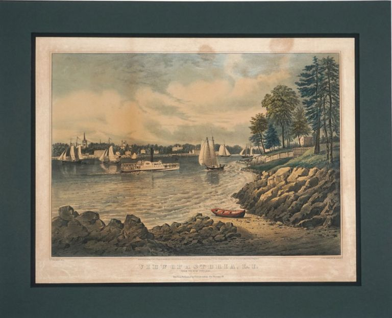 View of Astoria, L.I. from the New York side. Fanny Palmer.