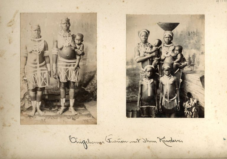 Series of photographic portraits of African women and children. Africa, Photography.