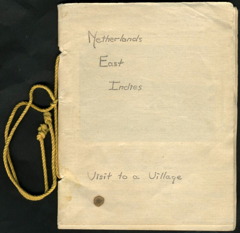 """Netherlands East Indies, Visit to a Village"". Soldier's handmade photograph album. WWII, US Military."