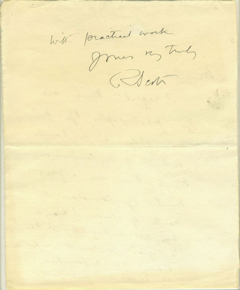 Autograph letter from Scott, written in the Antarctic, possibly one of his last autographs. Antarctic, Autograph.