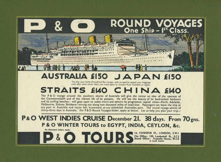 P&O Line Voyage Mock up artwork. Steamship art.