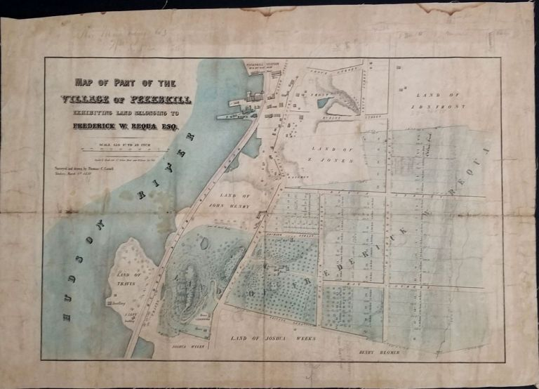 Map of Part of the Village of Peekskill exhibiting land belonging to Frederick W. Requa Esq. Thomas C. Civil Engineer Cornell.