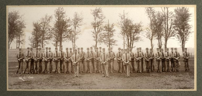 West Point Class of 1900, Company E. Albumen photograph.