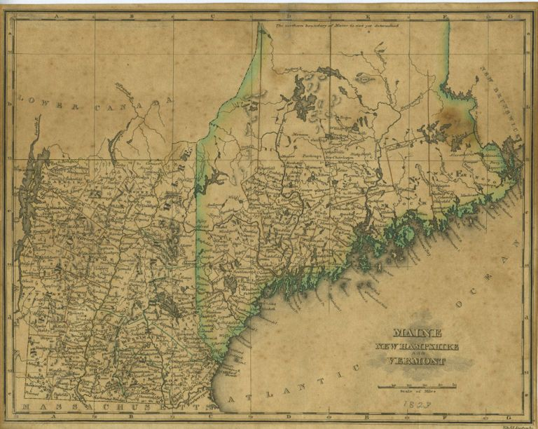 A Map of Maine, New Hampshire and Vermont from An Atlas of the United  States, on an Improved Plan;... with a complete index by Sidney E. Morse on  ...